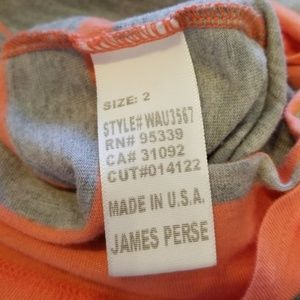 James Perse Tops - NWT {James Perse} Peach & Gray Stripe T-shirt